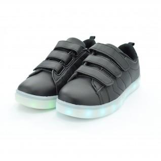Kids led running shoes Runners, HK-16002, black