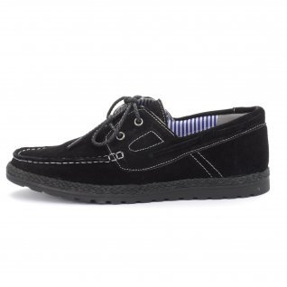 Men moccasins Runners, RNS-151-2071, black