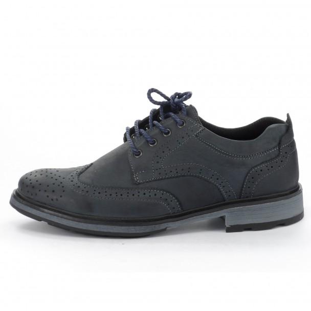 Мъжки обувки естествена кожа Runners, RNS-152-48154, син