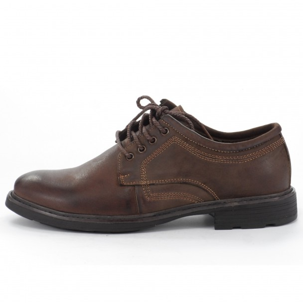 Мъжки обувки естествена кожа Runners, RNS-152-48158, кафяв