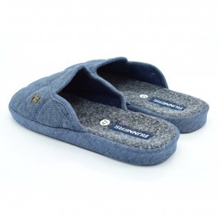 Men home slippers Runners, AM-150275, blue