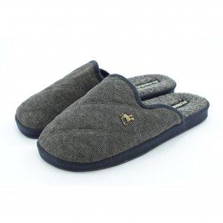 Men home slippers Runners, AM-150275, grey