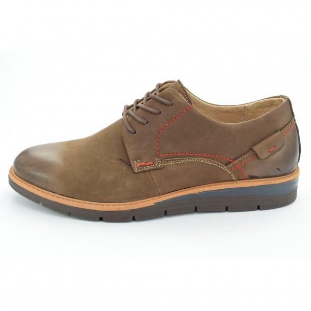 Мъжки обувки естествена кожа Runners, RNS-162-SH5127, кафяв