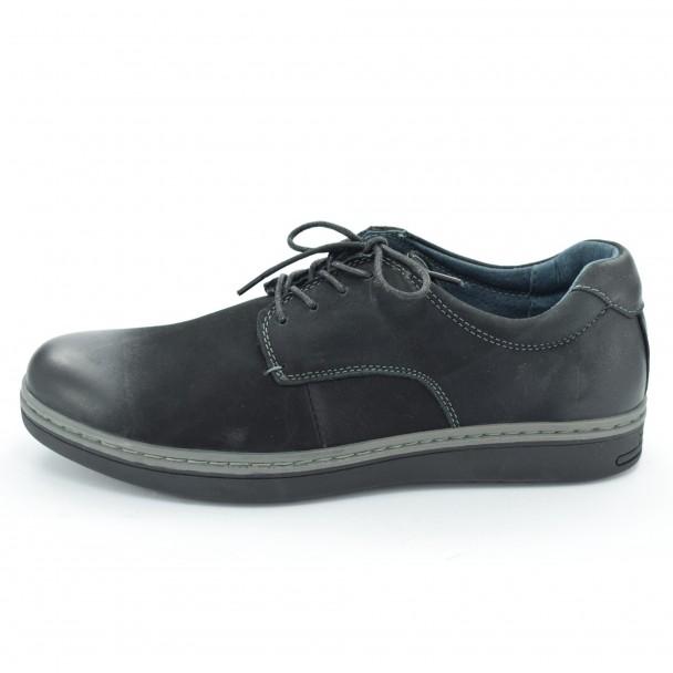 Мъжки обувки естествена кожа Runners, RNS-162-SD4647, черен