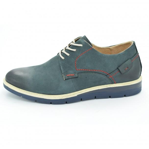 Мъжки обувки естествена кожа Runners, RNS-162-SH5127, син
