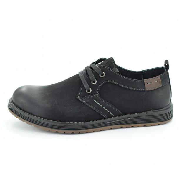 Мъжки обувки естествена кожа Runners, SH3899, черен