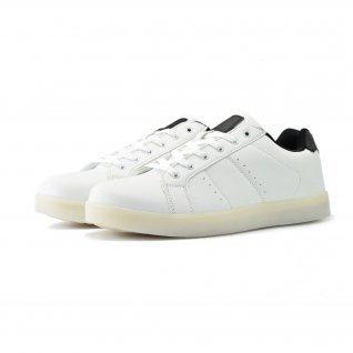 Men running shoes Runners, HK-16003, white