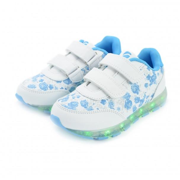Детски светещи маратонки Runners, RNS-171-16187, син