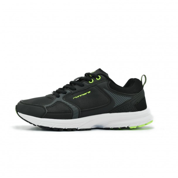 Men running shoes Runners, RNS-172-16324, black