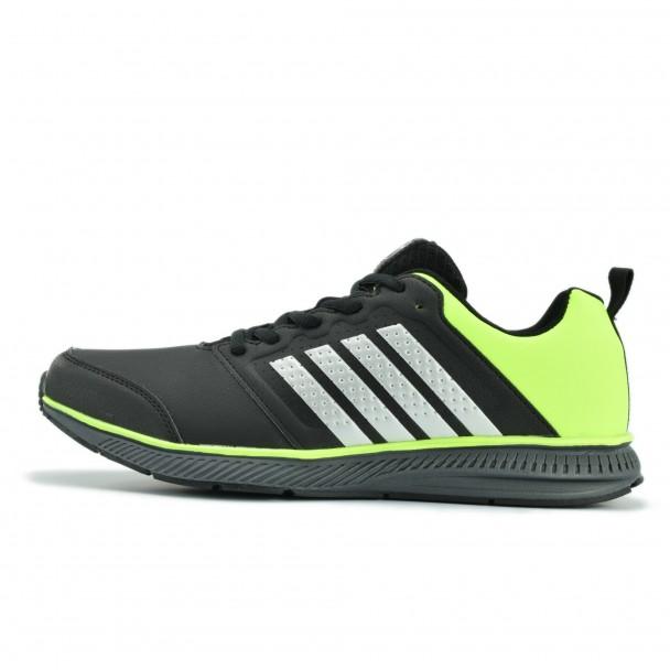 Мъжки маратонки Runners, RNS-172-15140, черен/зелен