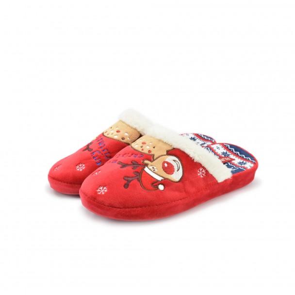 Дамски пантофи Runners, AW-130216, червен
