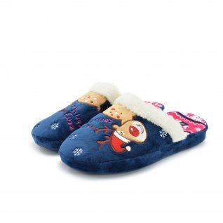 Woman home slippers Runners, AW-130216, navy