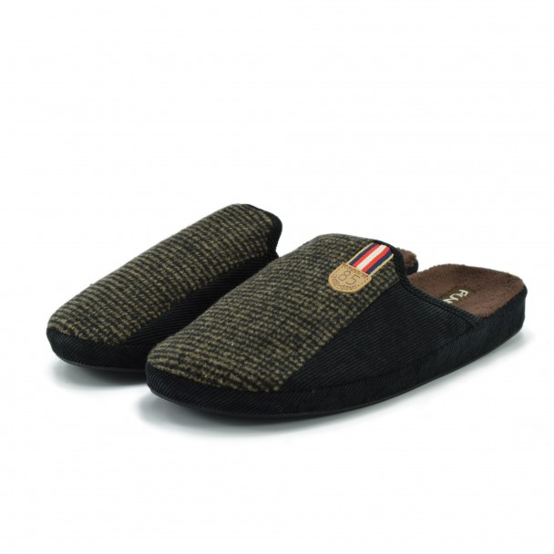 Men home slippers Runners, AM-170284-2, brown
