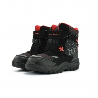 Kids snow boots Runners, RNS-172-2523, black/red