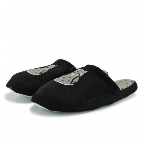 Woman home slippers Runners, RNS-172-126-1, black