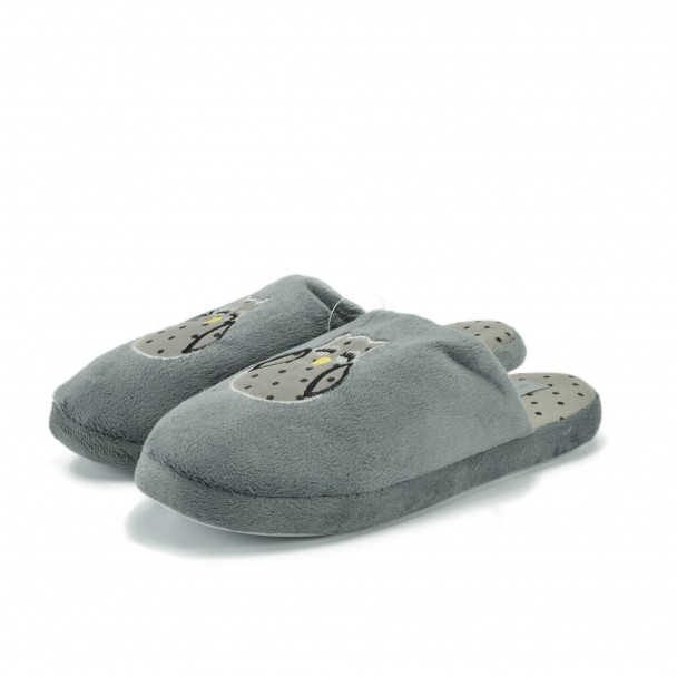 Woman home slippers Runners, RNS-172-126-2, grey