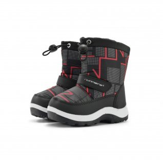 Kids snow boots Runners, RNS-172-66039, black/red