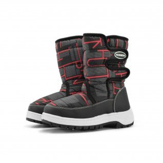 Kids snow boots Runners, RNS-172-66056, black/red
