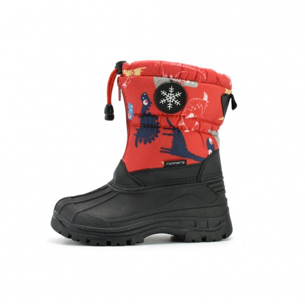 Kids snow boots Runners, RNS-172-66059, red