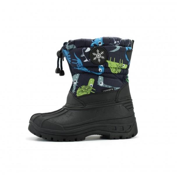 Kids snow boots Runners, RNS-172-66059, navy