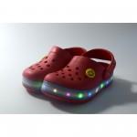 Детски светещи джапанки Runners, RNS-170327, червен