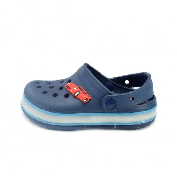 Kids led flip flops Runners, RNS-170327, dark blue