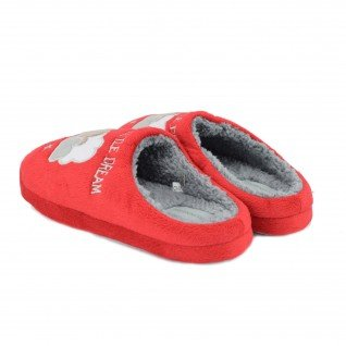 Women home slippers RUNNERS, RNS-182-2, red