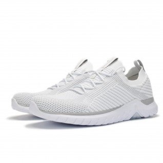 Men running shoes Runners RUNKNIT, RNS-191-3230, White