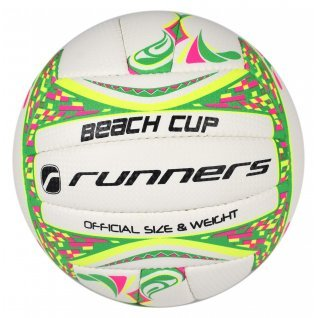 Volleyball RUNNERS BEACH VOLLEY WHITE/GREEN, size 5