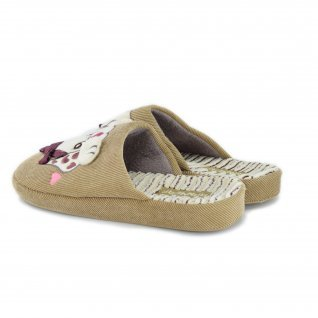 Woman home slippers RUNNERS, RNS-192-18021, beige