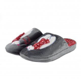 Woman home slippers RUNNERS, RNS-192-1801625, grey