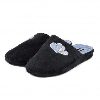 Women home slippers RUNNERS, RNS-192-31348, black