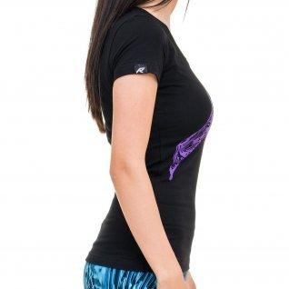 Woman t-shirt RUNNERS GRAFFITI, black