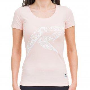 Woman t-shirt RUNNERS GRAFFITI, coral