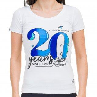 Woman t-shirt RUNNERS 20TH, white