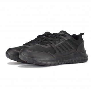 Men running shoes Runners FULL STEP, RNS-201-102, Black