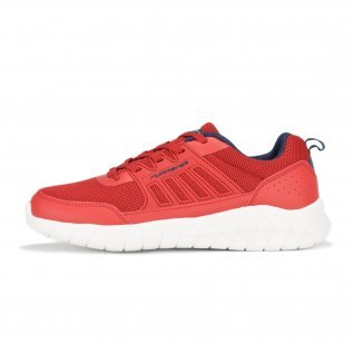 Men running shoes Runners FULL STEP, RNS-201-102, Red