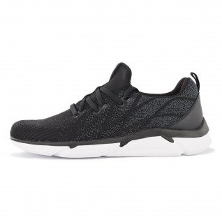 Men running shoes Runners FIBER, RNS-201-3528, Black