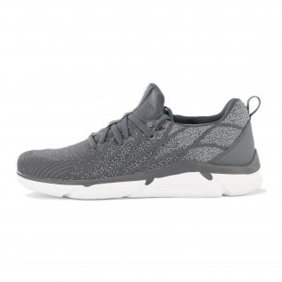 Men running shoes Runners FIBER, RNS-201-3528, Dk.Grey