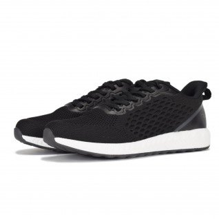 Men running shoes Runners FREEDOM, RNS-201-3686, Black/Grey