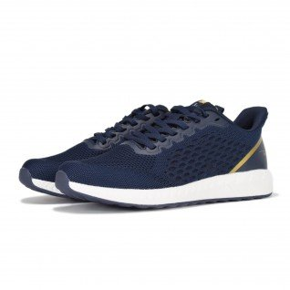 Men running shoes Runners FREEDOM, RNS-201-3686, Navy/Gold
