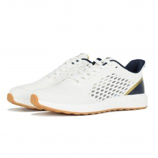 Men running shoes Runners FREEDOM, RNS-201-3686, White/Blue