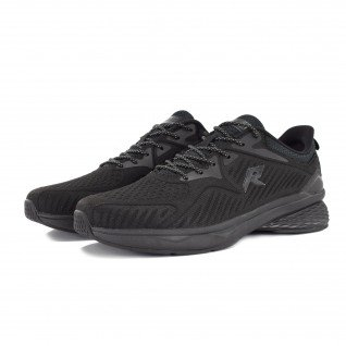 Men running shoes Runners STRIKE, RNS-201-3736, Black