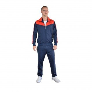 Men sports outfit Runners, RNS-5339, Navy/Red