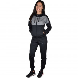 Woman sports outfit Runners, RNS-15012, Black/Grey