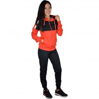 Woman sports outfit Runners, RNS-15012, Black/Red