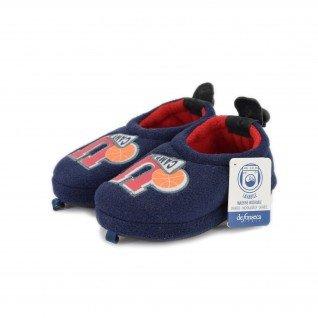 Kids home slippers De Fonseca, AOSTA K201, blue