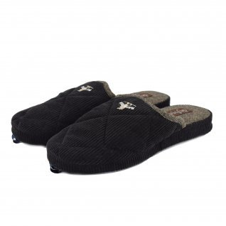 Men home slippers De Fonseca, MILANO M205, black