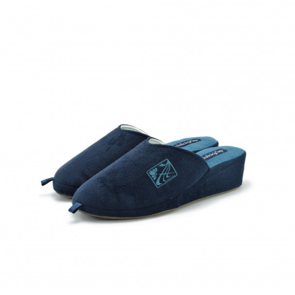 Woman home slippers Defonseca, PALERMO W206, blu scuro