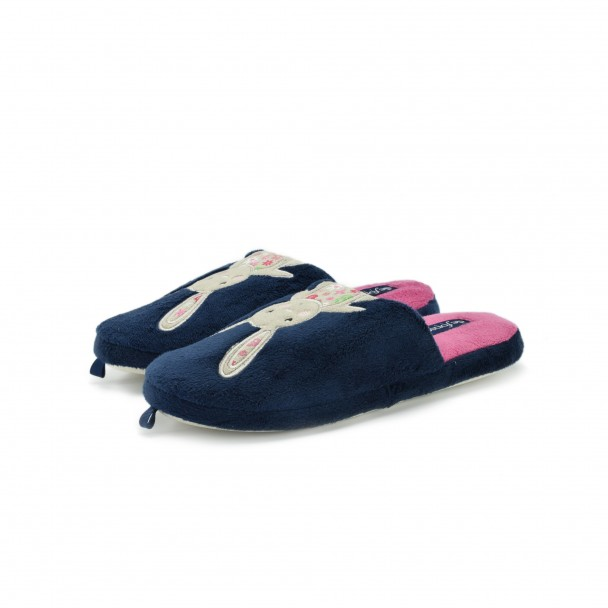Woman home slippers Defonseca, ROMA TOP W200, blu scuro
